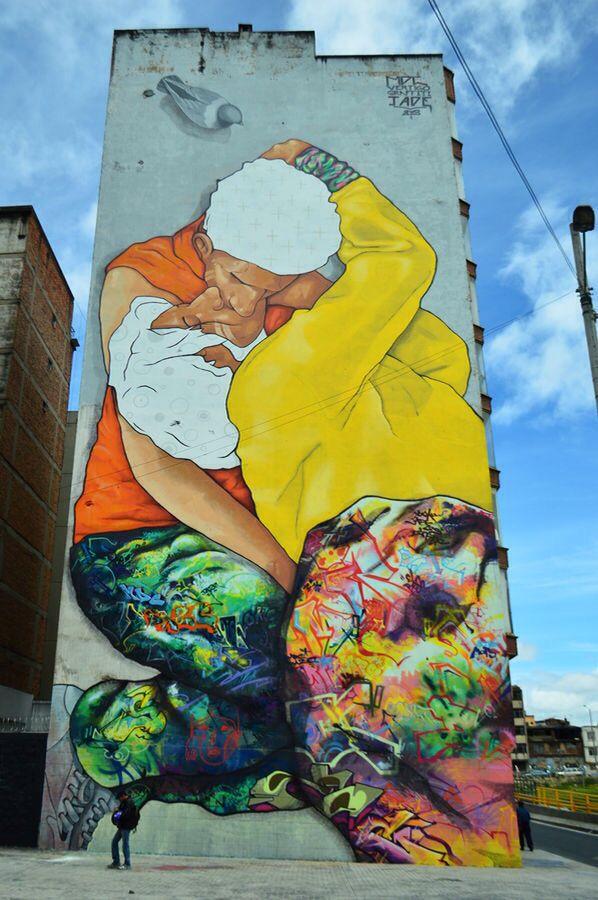 """""""El beso de Los invisibles"""" - Bogotá, Colombia - by Jade, Vértigo"""