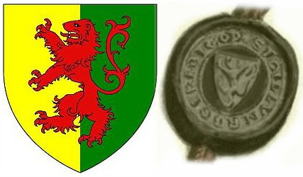 According to Wikipedia (not the best source), Roger Bigod, 5th earl of Norfolk, changed his arms from a cross gules to a lion rampant upon becoming Marshall of England. In so doing, he adopted the arms of his grandfather, William Marshall (Mareschal), 1st earl of Pembroke. Recorded in the Falkirk Roll, c.1298.