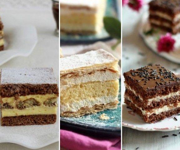 Míg egy muffinnal vagy egy piskótával nem mindig aratunk osztatlan sikert, addig egy tálca krémes süteményt garantáltan szétkapkodnak a vendégek, legyen szó csokis, pudingos vagy grízes változatról. Íme 15 finomság, aminek senki sem tud ellenállni.