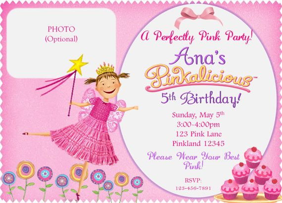 91 best images about SLG Invitations – Pinkalicious Birthday Invitations