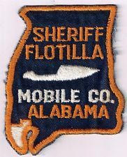 Mobile County Sheriff Flotilla, Alabama - old style, patch