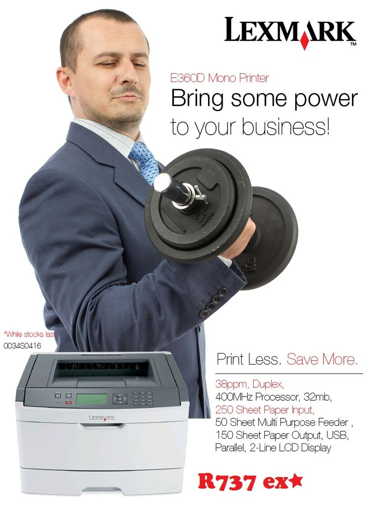 Lexmark Printer Promo. Contact laurenp@ilembetech.co.za
