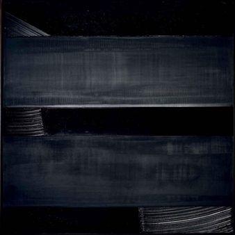 Peinture 136 x 136 cm, 24 décembre 1990 By Pierre Soulages ,1990