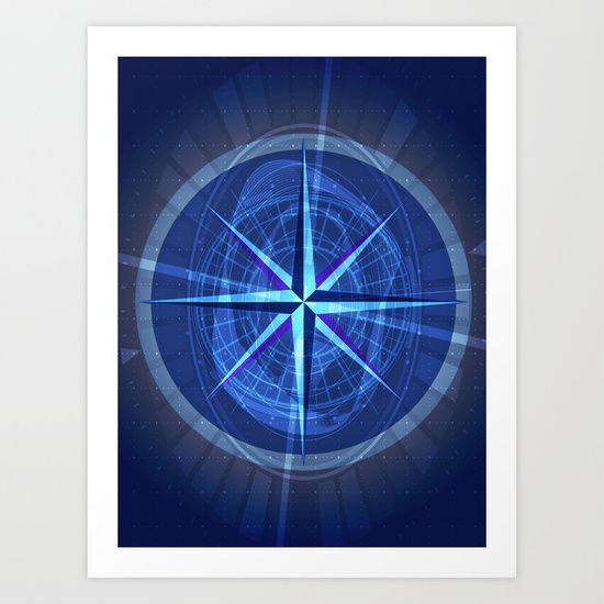 Moral Compass Art Print by Helle Gade - $13.52 #art #digitalart