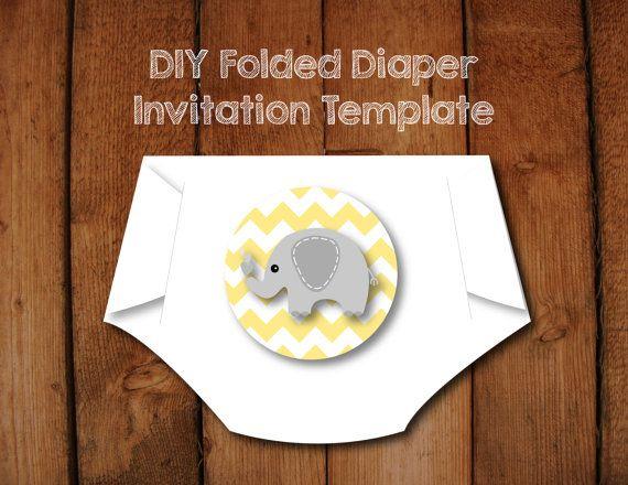 Cele Mai Bune  De Idei Despre Diaper Invitation Template Pe