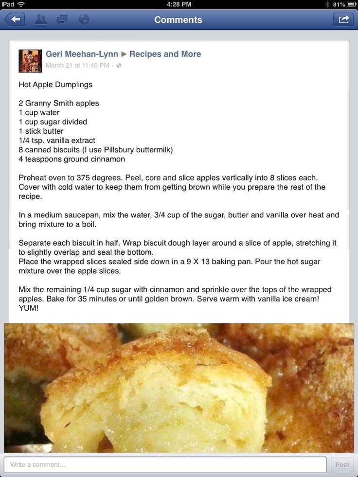Hot Apple Dumplings