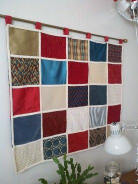 upholstery samples from scrap - ideas for using them in your home decor