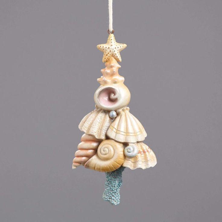 Jim Shore River's End Collection Seashell Christmas Tree Ornament