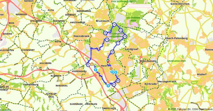 Fietsroute 115131 | 29,10 km | Brunssummerheide en omgeving Heerlen | Elke dag nieuwe routes op deze site!