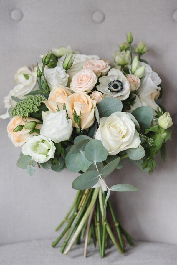 Weiße Anemonen + Eukalyptus + weiße Rosen, ggf. mit Hortensien kombinierbar?