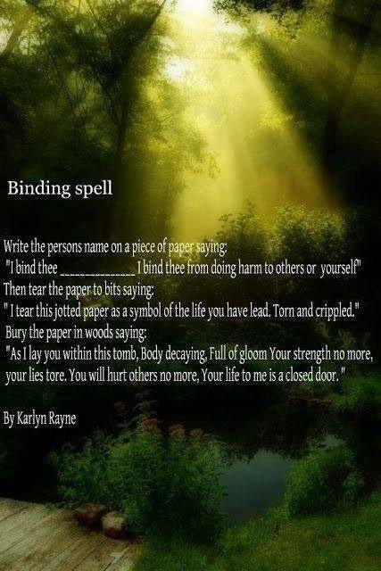 spells spiritual binding page