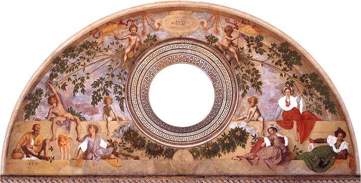 A Villa Medici em Poggio a Caiano na Toscana  As principais atrações da vila Medici em Poggio a Caiano são os afrescos de Pontormo retratando Vertumnus e Pomona no salão principal.