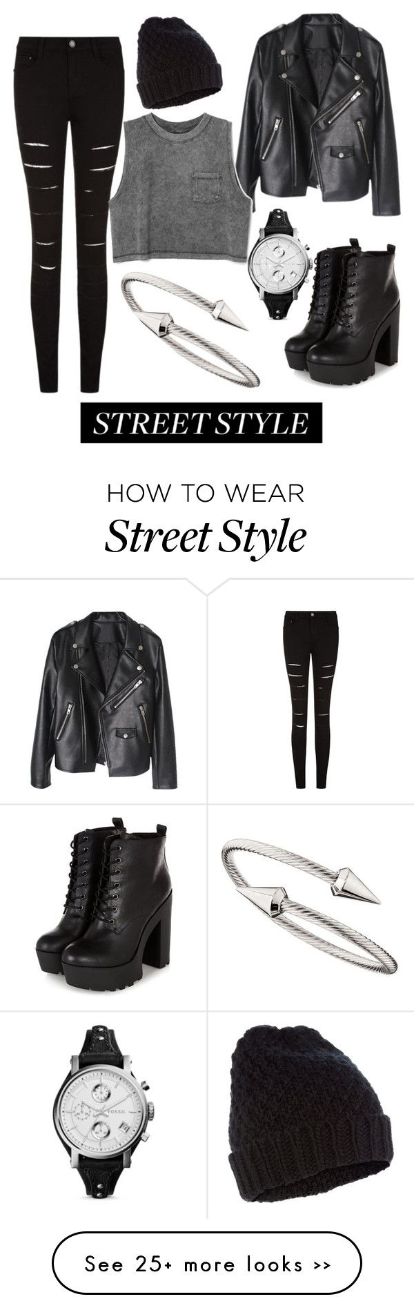 """Dark Shadows"" by screen4ger on Polyvore featuring Jules Smith, Accessorize and FOSSIL"