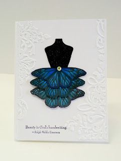 God's Beauty Butterfly Dress handmade Stampin' Up! All occasion card