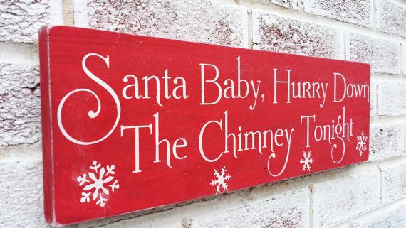 Santa Baby holiday sign holidays by deSignsOfExpression on Etsy