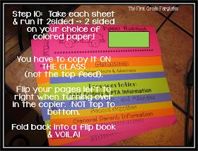 FREE instructions and template for parent handbooks! <3