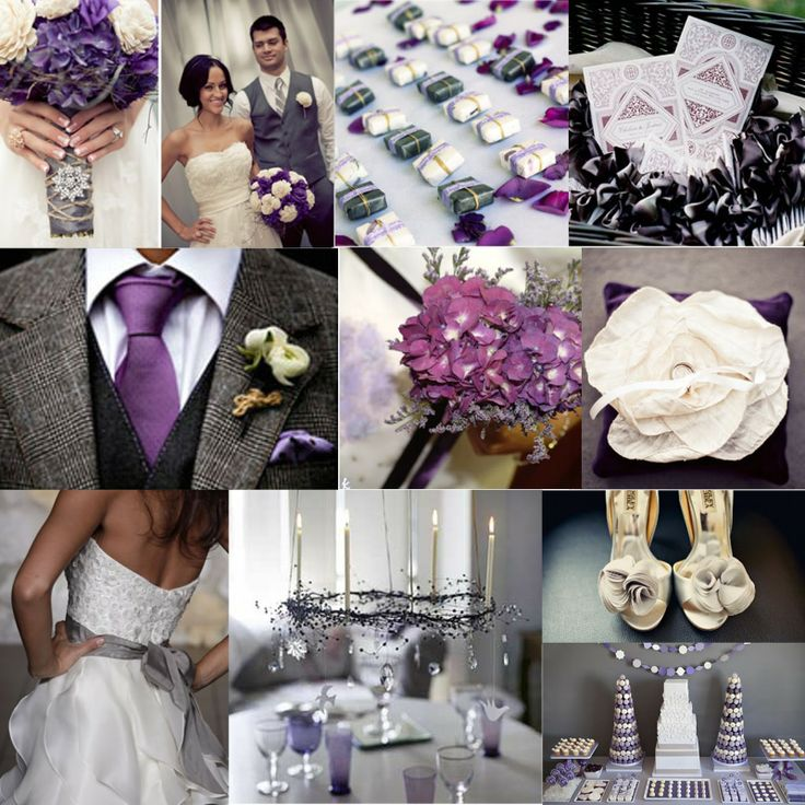 Grey Wedding Ideas: 11 Best Images About Purple Wedding On Pinterest