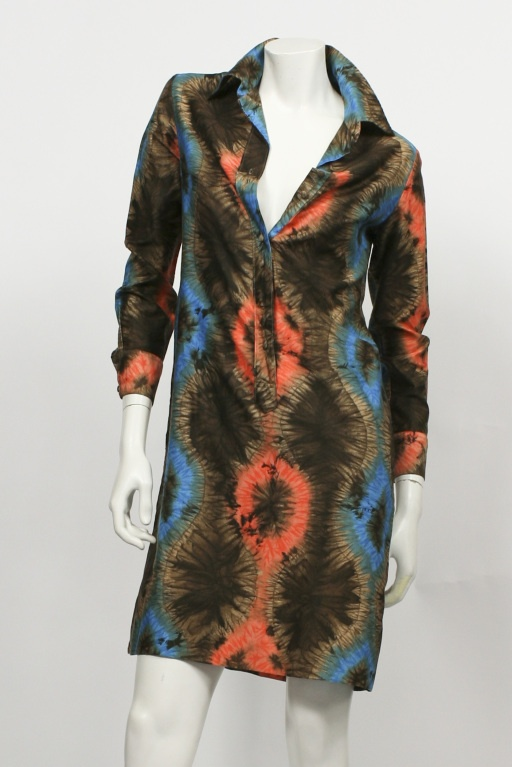vintage 1970's lanvin batik dress - i think it's sasirangan batik prints of south borneo