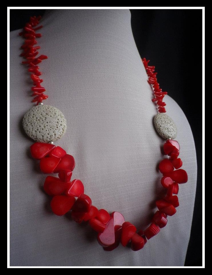 Beautiful Handmade Gemstone Jewellery  - Coral  http://www.facebook.com/ZadiaDesigns