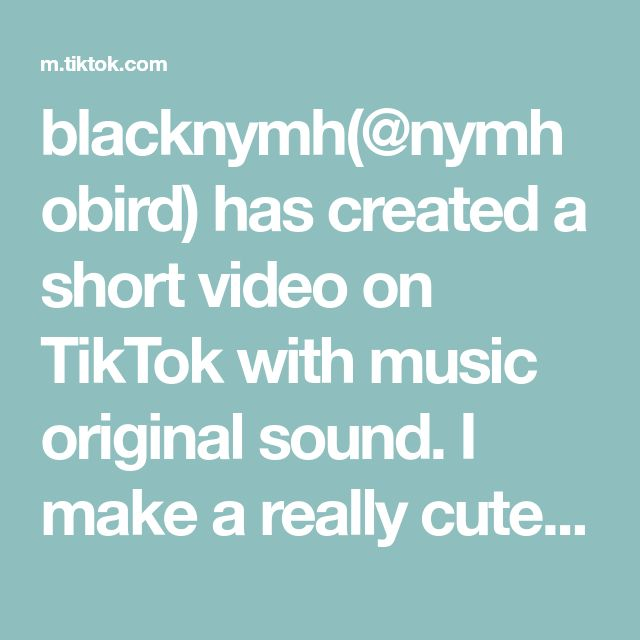 Blacknymh Nymhobird Has Created A Short Video On Tiktok With Music Original Sound I Make A Really Cu Instagram Story Ideas The Originals Little Miss Perfect