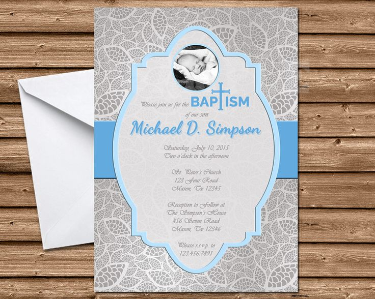 36 best Beautiful Baptism Invitations \ Communion Invitations by - best of sample invitation of baptism