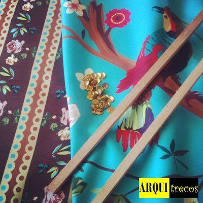 Minha cabeceira de cama em tecido by Juliana Curi