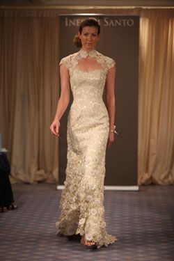 Asian inspired lace wedding dress