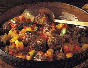 Boulettes de viande à la sauce créole