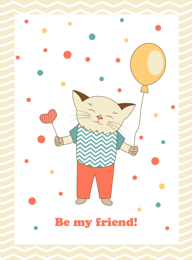 Be my friend! My vector card