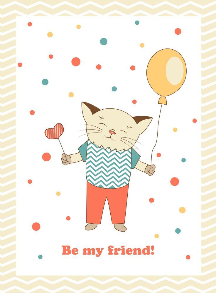 Be my friend! My vector card