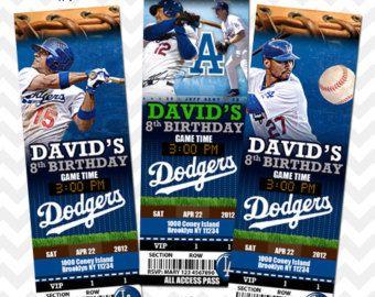 LA Dodgers, Los Angeles Dodgers, Ticket Invitation