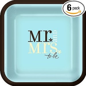 Teal Tiffany Blue Square Wedding Plate The Plates That