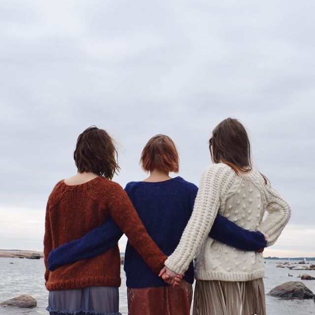 Hand knitted sweaters from the upcoming Quiet Glory collection. Soft warm and fuzzy knits from Scandinavia <3 www.kutovakika.com