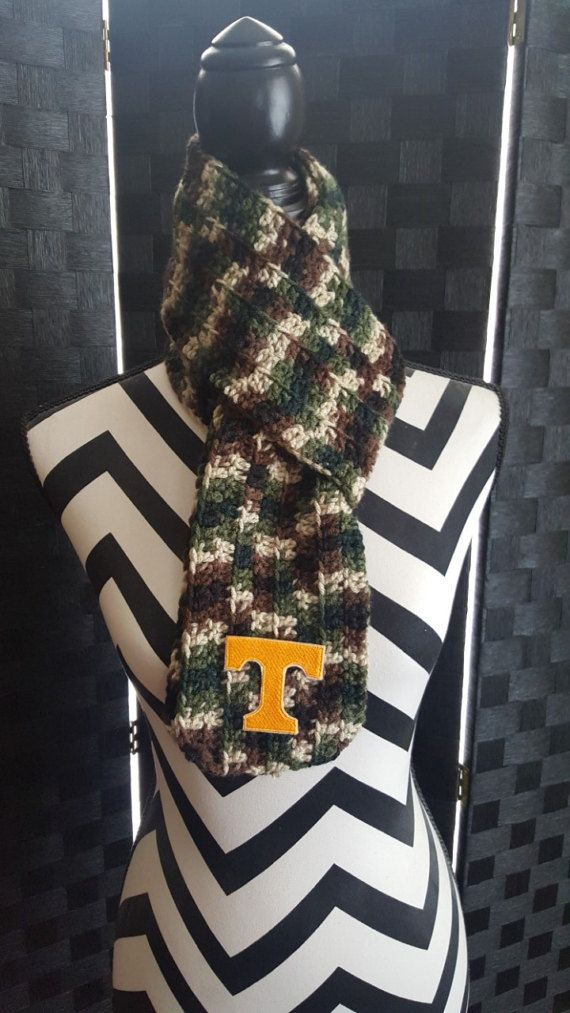 Check out this item in my Etsy shop https://www.etsy.com/listing/495876630/university-of-tennessee-camouflage-scarf
