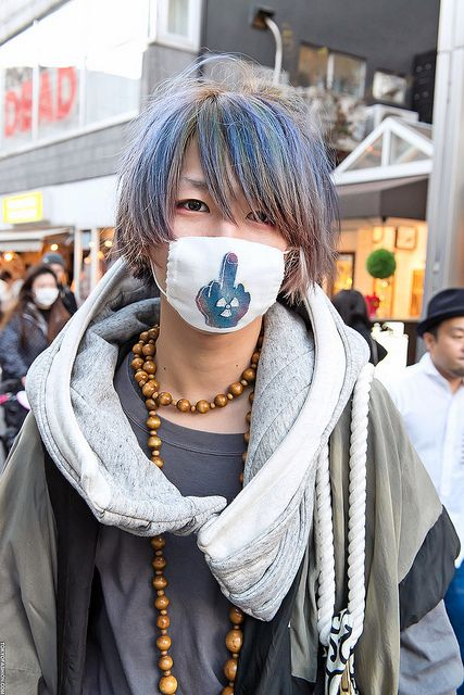 Blue-Green Hair in Harajuku by tokyofashion, via Flickr