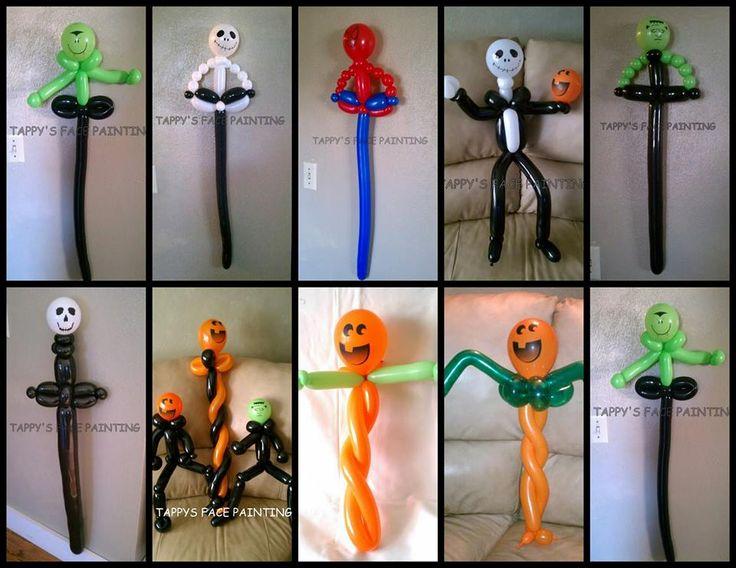 simple balloon favors trick or treat fundraiser - Halloween Balloon Animals