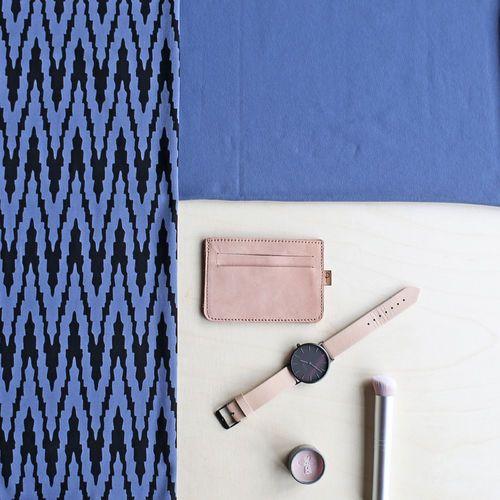 VIRTA, Blue - Black | NOSH Women Autumn 2016 Fabric Collection is now available at en.nosh.fi | NOSH Women syysmalliston 2016 uutuuskankaat saatavilla verkosta nosh.fi