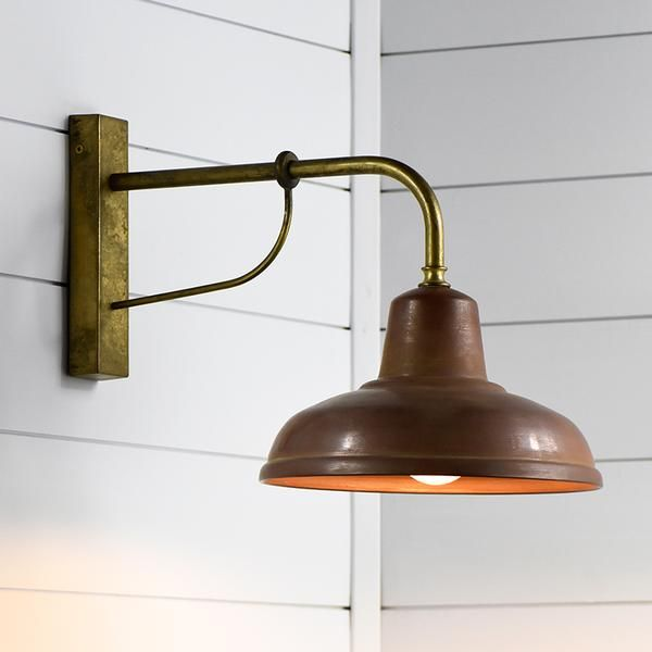 Vintage Aged Copper Brass Interior Or Exterior Wall Light Exterior Wall Light Wall Lights Brass Wall Light