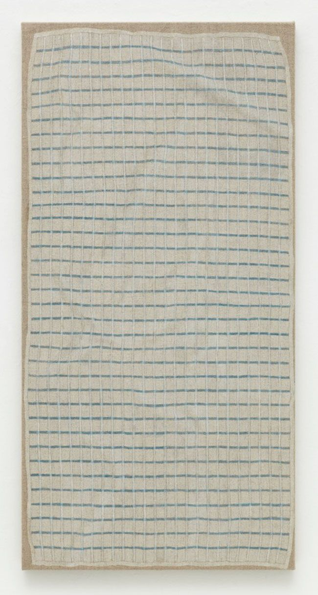 blueberry modern : Photo  HELENE APPEL Towel 2010 Watercolor and acrylic on linen 40 1/2 x 20 1/4 in. (103 x 51.5 cm)