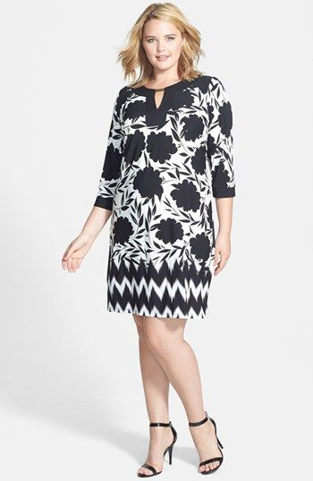 London Times Print Sheath Dress (Plus Size) available at #Nordstrom