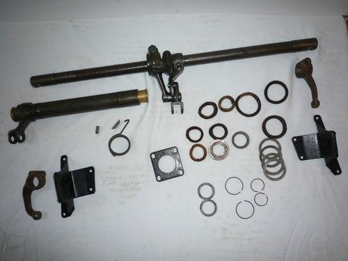 Austin Seven 7 Brake Cross Shaft Assembly Ruby Mk2 with chassis brackets | eBay