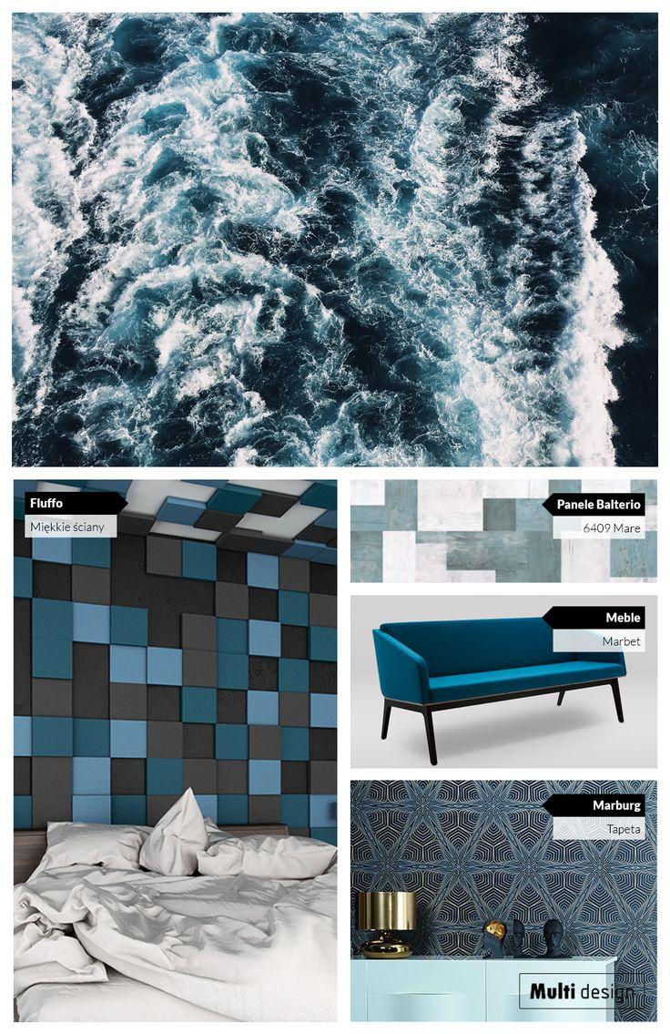 Morskie odcienie niebieskiego we wnętrzach. Niebieskie wnętrza stwarzają świetny klimat do relaksu i odpoczynku.