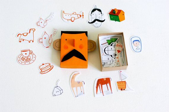 stickers in a FUNNY tiny box by behappynow on Etsy