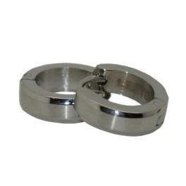 Pendientes de acero de aro plateados y cierre oculto pequeños de lestor/Pendientes de oro de 18 Kilates http://relojesplatayacero.com/