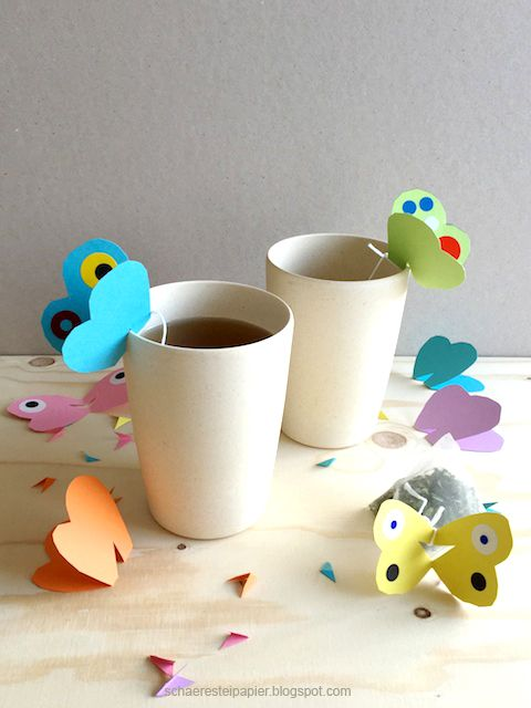 schaeresteipapier: Geschenk-Idee zum Muttertag - Schmetterlingstee
