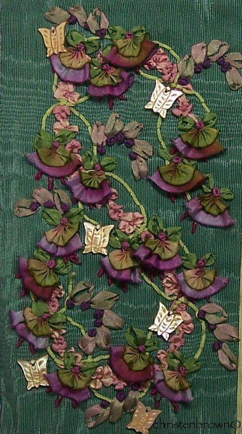 silk ribbone embroidery panel 7