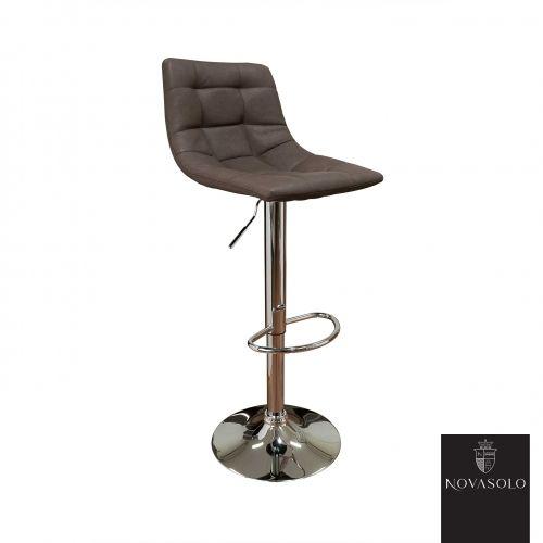 Tøff og behagelig Halifax barstol i brun vintage PU med en matt finish. Barstolen har fotstøtte og høydejustering!