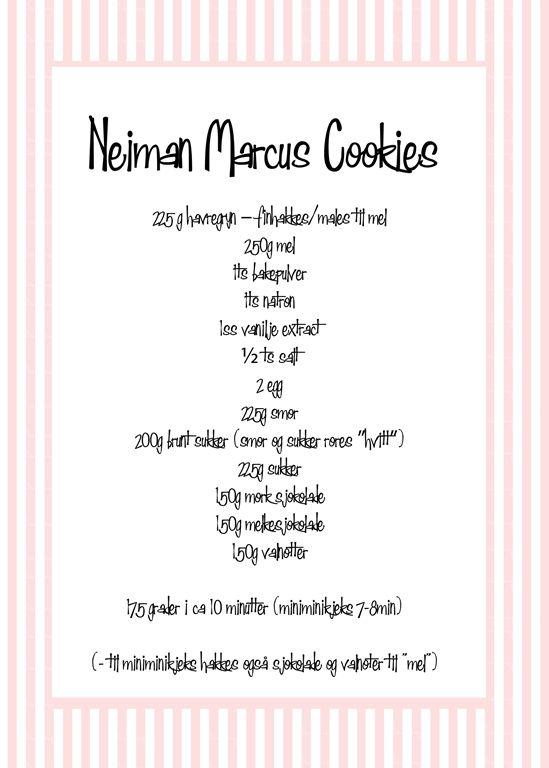 neiman marcus cookies oppskrift chocolate chip cookies