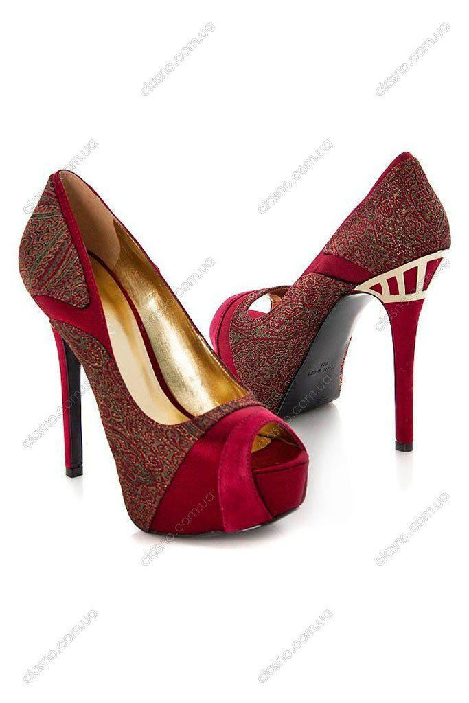 Бордовые замшевые туфли с открытым носком. Туфли летние: натуральная кожа и замша, Nine West - артикул: 2029474.