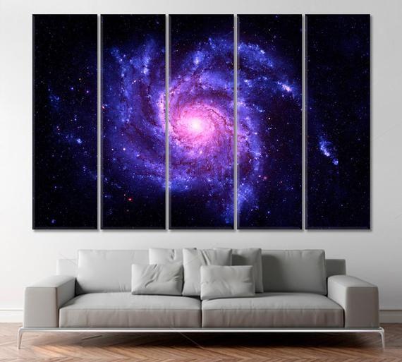 Galaxy Print Spiral Galaxy Art Nasa Wall Decor Cosmos Etsy Space Wall Art Galaxy Art Spiral Galaxy